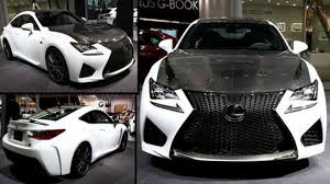 lexus rcf white interior lexus rc f carbon youtube