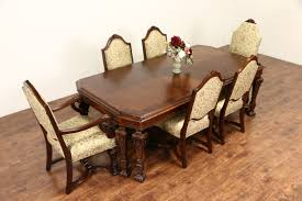 1920 dining room set sold renaissance carved 1920 banded dining table without chairs