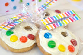 cookie party supplies diy artist s palette cookie favor