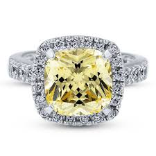 colored halo rings images Sterling silver cushion canary yellow cubic zirconia cz halo jpg