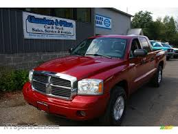 2006 dodge dakota slt quad cab 4x4 in inferno red crystal pearl