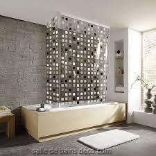 rideau de baignoire store d angle mosaïque grise