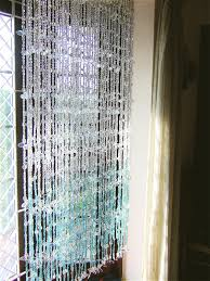 Beaded Window Curtains White Blue Leaf Bead Curtain Memories Of A Butterfly Buy Beaded