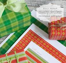 country christmas wrapping paper printable christmas wrapping paper the elli