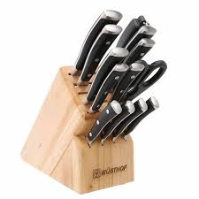 Kitchen Knives Block by Wusthof Classic Ikon 14 Piece Knife Block Set 9814 1 J L Hufford