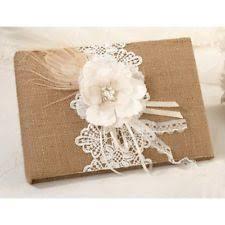 Burlap Photo Album Wedding Guest Books U0026 Pens Ebay