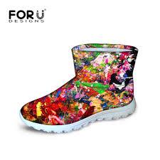 s waterproof winter boots australia novelty graffiti s winter boots for footwear