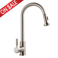 kitchen faucet commercial best commercial stainless steel single handle pull out sprayer