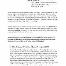 Resume Other Skills Examples Cover Letter Skill Examples For Resume Customer Service Skill