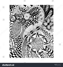 zentangle pattern doodle florent style hand stock vector 334585901