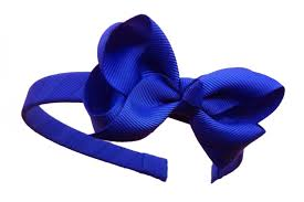 blue headband headband small royal blue removable bow with alligator clip