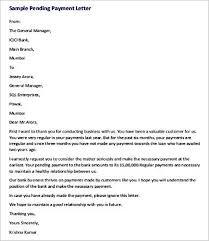 formal pending payment letter to client templatezet