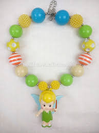 latest tinkerbell princess chunky bubble necklace diy wholesale