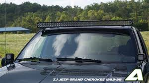 50 Curved Led Light Bar by Zj Jeep Grand Cherokee 93 98 Apoc Door Mounts For 50 Jeep Grand