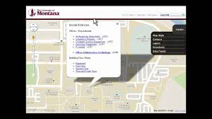 University Of Montana Map by University Of Montana Interactive Map Youtube