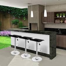 Designer Kitchen Bar Stools by Set Of 2 Modern Kitchen Bar Stools Adjustable Swivel Breakfast Bar