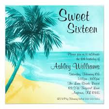 tropical beach sweet 16 birthday party invitations zazzle com