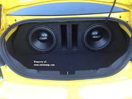 camaro speaker box amazon com 2010 2015 camaro coupe dual 12 ported subwoofer box