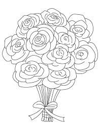 coloring pages with roses bouquet of roses coloring pages bouquet of roses coloring pages rose