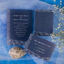 Navy Blue Wedding Invitations Printable Elegant Blue Floral Inexpensive Wedding Invites Online