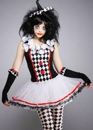 Harlequin Halloween Costume Ladies Gothic Clown Harlequin Honey Costume