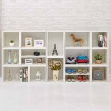 Modern White Bookcases Modern White Bookcases Home Office Furniture The Home Depot