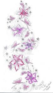 collection of 25 beautiful butterfly flowers design