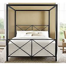 Black Canopy Bed Frame Dhp Rosedale Metal Canopy Bed Size Black