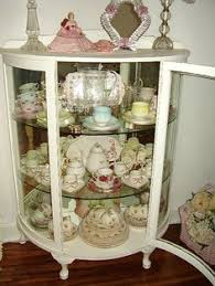 small china cabinet for sale displaying china in a cabinet vintage shabby chic glass display