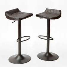 patio bar furniture sets rst brands woven wicker patio bar stool 2 pack ip pebst3205 deco