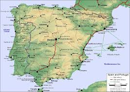 map of spain map of spain and portugal for use in locating the cities o flickr