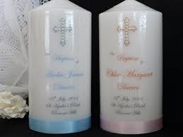 christening candles personalised candle for baptism or christening with pearl cross