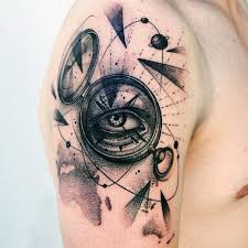 compass with eye guys abstract cool arm tattoos tatto