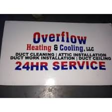 overflow heating cooling heating air conditioning hvac