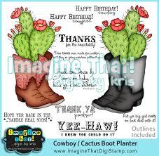 cowboy cactus planter