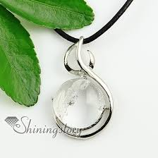 crystal rock pendant necklace images Round open work semi precious stone rock crystal agate glass opal jpg