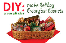 christmas gift basket ideas diy gift idea breakfast basket inhabitat green design