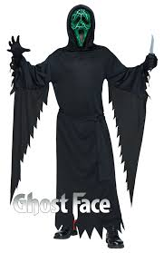 light up halloween costumes smoldering ghost face mens costume includes hooded robe light up