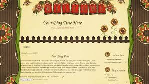free blogger blog template fall