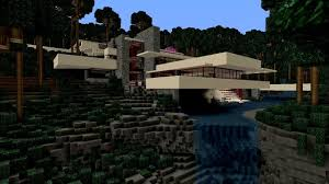 Frank Lloyd Wright Falling Water Interior Minecraft Fallingwater Youtube