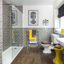grey and yellow bathroom ideas bathroom ideas to the most of bright colours scandinavian