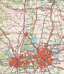 Dallas Map by Late 1980s Soviet Map Of North Texas Dallas