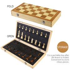 coolest chess sets bestoyard folding wooden chess set with magnetic pieces 39 39cm