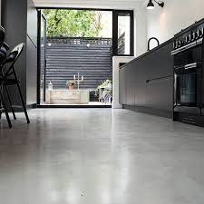Types Of Kitchen Flooring Micro Concrete Kitchen Installation Poured Resin And Concrete