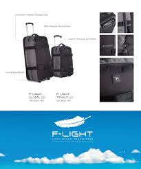 light travel bags luggage f light 2 0 global luggage accessories