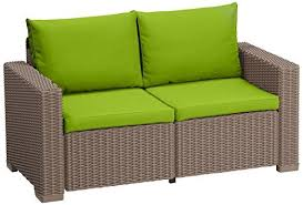 Lime Green Patio Furniture by Lime Green Replacement 4 Piece Seat Cushions Set For Keter