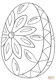 decorative easter egg coloring page free printable coloring pages