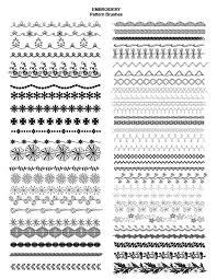 pattern drawing illustrator adobe illustrator fashion brushes embroidery brushes embroidered