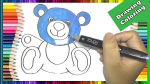 how to draw and color teddy bear in the boss baby movie coloring