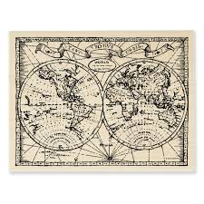World Map Art Shop For The Stampendous Fran Seiford Rubber Stamp Old World